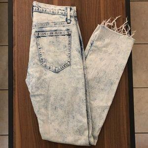 GAP denim acid wash straight leg jeans